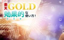 楽天GOLD(ゴールド)って何が出来るの?初心者の為のメリットと効果的な使い方まとめ